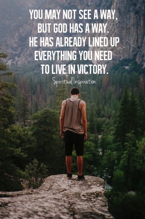 I have victory in god who heals me