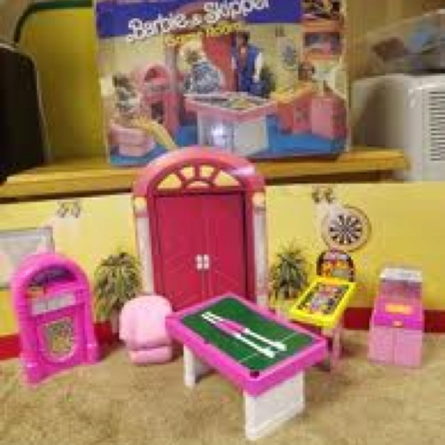 Barbie Game Room - in my attic