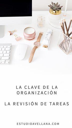 Organizar las tareas: La clave de la REVISIÓN