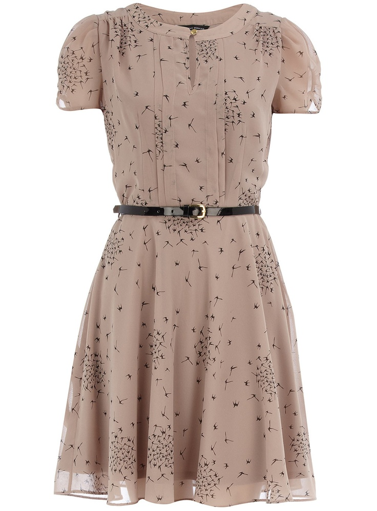 Dorothy Perkins black bird print tea dress