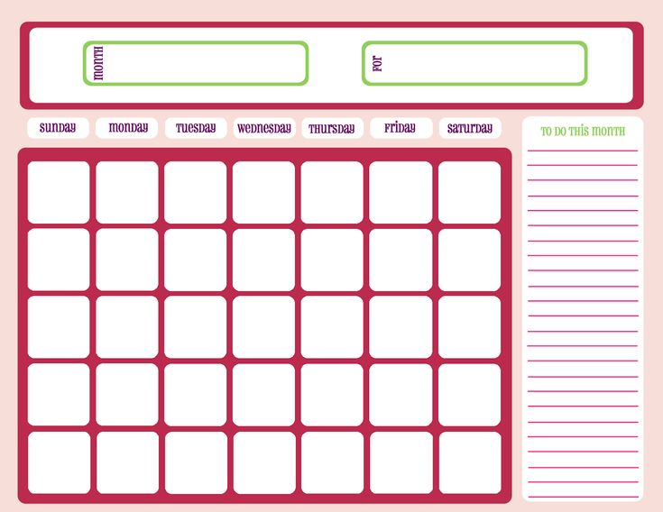 66 Best Calendar Template Printable Images On Pinterest | Calendar