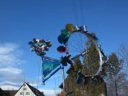 Spectacular Windspiele aus Fahrr dern prototyp Hochizontal und vertikale Windr der mo metallkunst IMMER F R