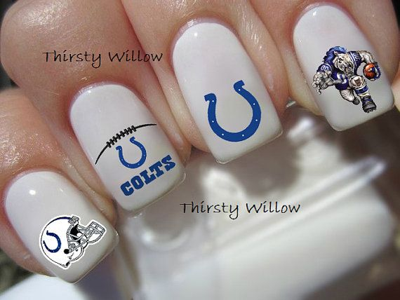 Indianapolis Colts Nail Decals by ThirstyWillow on Etsy, $3.99