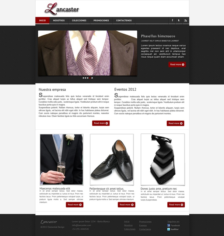 Clean and modern web template