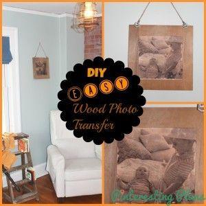 DIY Wood Photo Transfer Wall Hanging