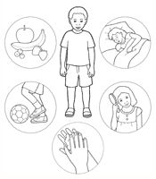 coloring page, I Will Take Care of My Body