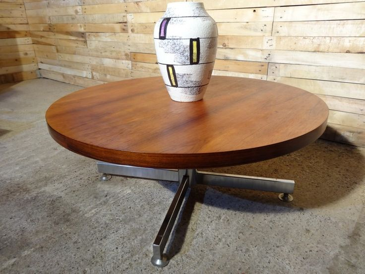 1960 S Danish Rosewood Coffee Table With Chrome Base Danish Rosewood Coffee Table