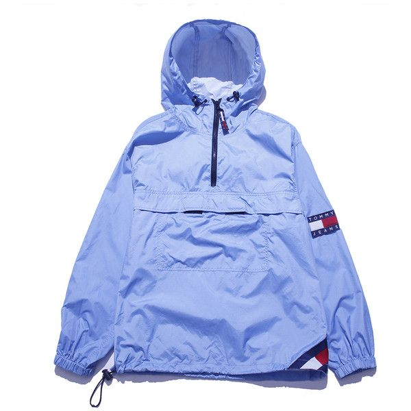 Tommy Jeans Parka Windbreaker Medium Perennial Merchants ($58) ❤ liked on Polyvore featuring jackets