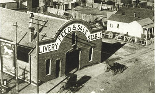Cheyenne ~ Abney's Livery Stable, 16th Street