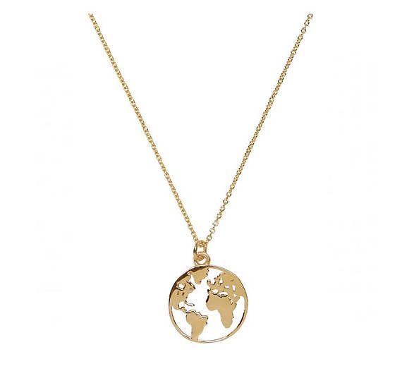 World Map Halskette-World Globe-Globetrotter Halskette-minimal – Nane Kieser