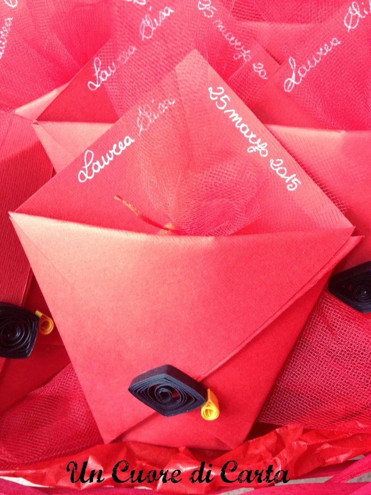 Origami-bomboniera laurea