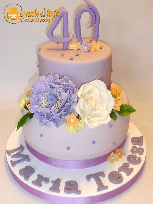 40 th Maria Teresa birthday - by BRICIOLE DI TORTA di MARIA SILVIA CHECCACCI @ CakesDecor.com - cake decorating website