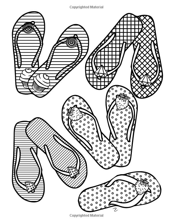 170 best images about shoes coloring pages for adults on for Girly coloring pages