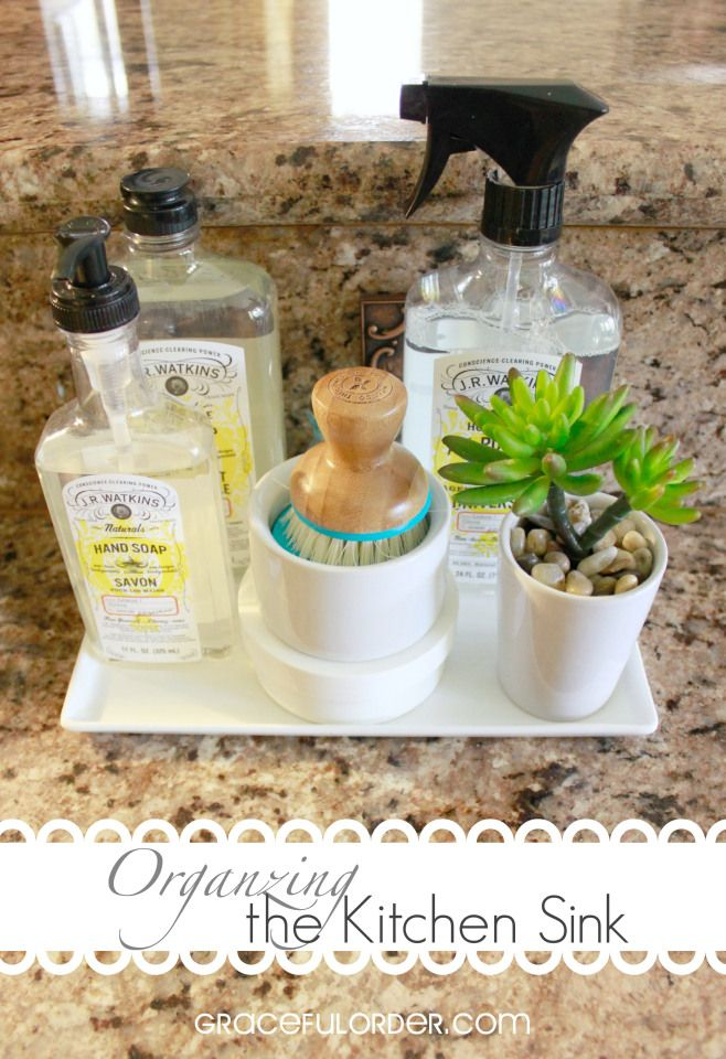 a little project that makes a big difference organizing the kitchen sink graceful order - Organize Kitchen Ideas