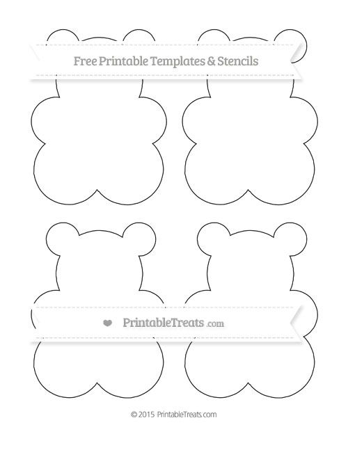 Free Printable Medium Gummy Bear Template Shapes and
