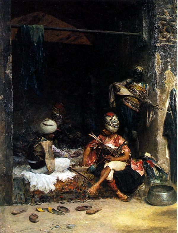 The Athenaeum - Bashi-Bazouks Playing Chess (Charles Bargue - )