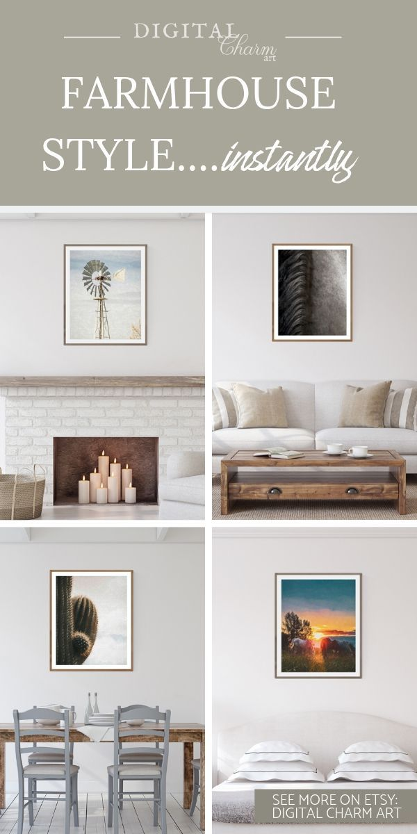 Get A Farmhouse Style Instantly With These Digital Download Farmhouse Prints Farmhouse Decor Has Become Extremely Popular Decor Nursery Wall Decor Home Decor