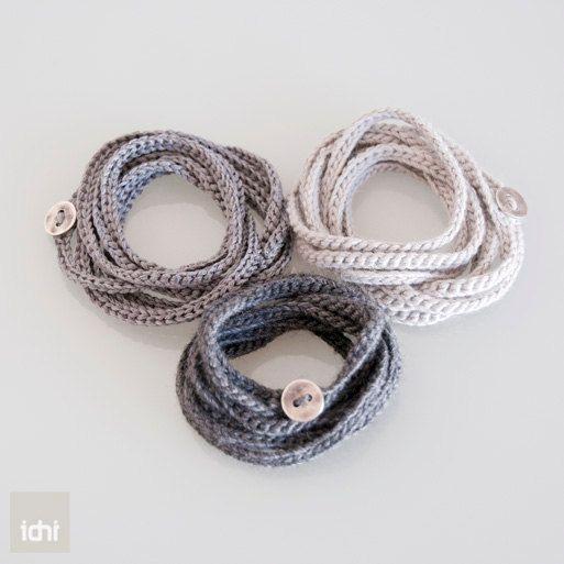 "For this crochet bracelet or necklace, look up ""crochet bracelet"" on youtube, many good videos"