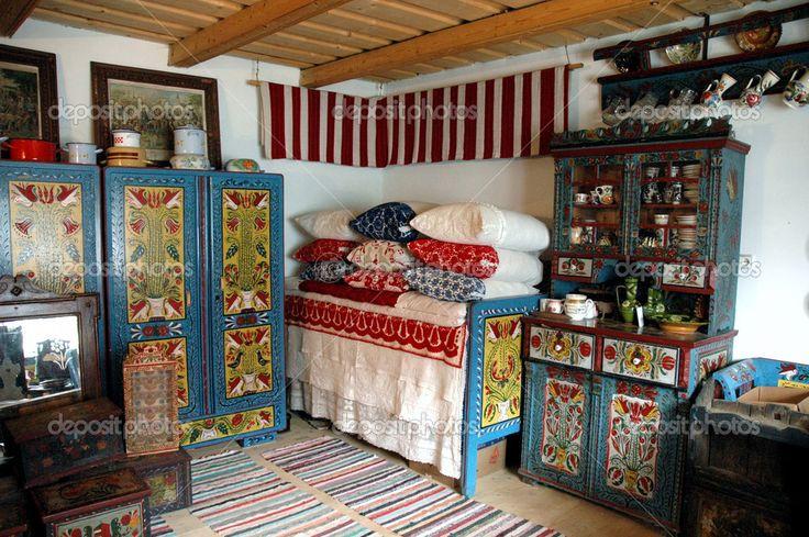 romanian folk interior - Google Search