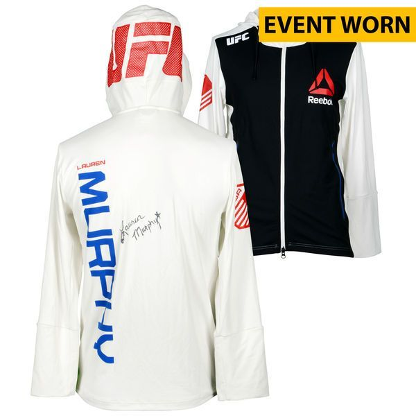 Lauren Murphy Ultimate Fighting Championship Fanatics Authentic Autographed UFC Fight Night: Cowboy vs. Cowboy Event-Worn Walkout Hoodie - Defeated Kelly Faszholz via Third Round TKO - $299.99