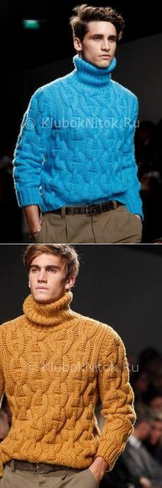 Шикарный свитер Hermes Fall-Winter | Вязание мужское | Вязание спицами и крючком. Схемы вязания.