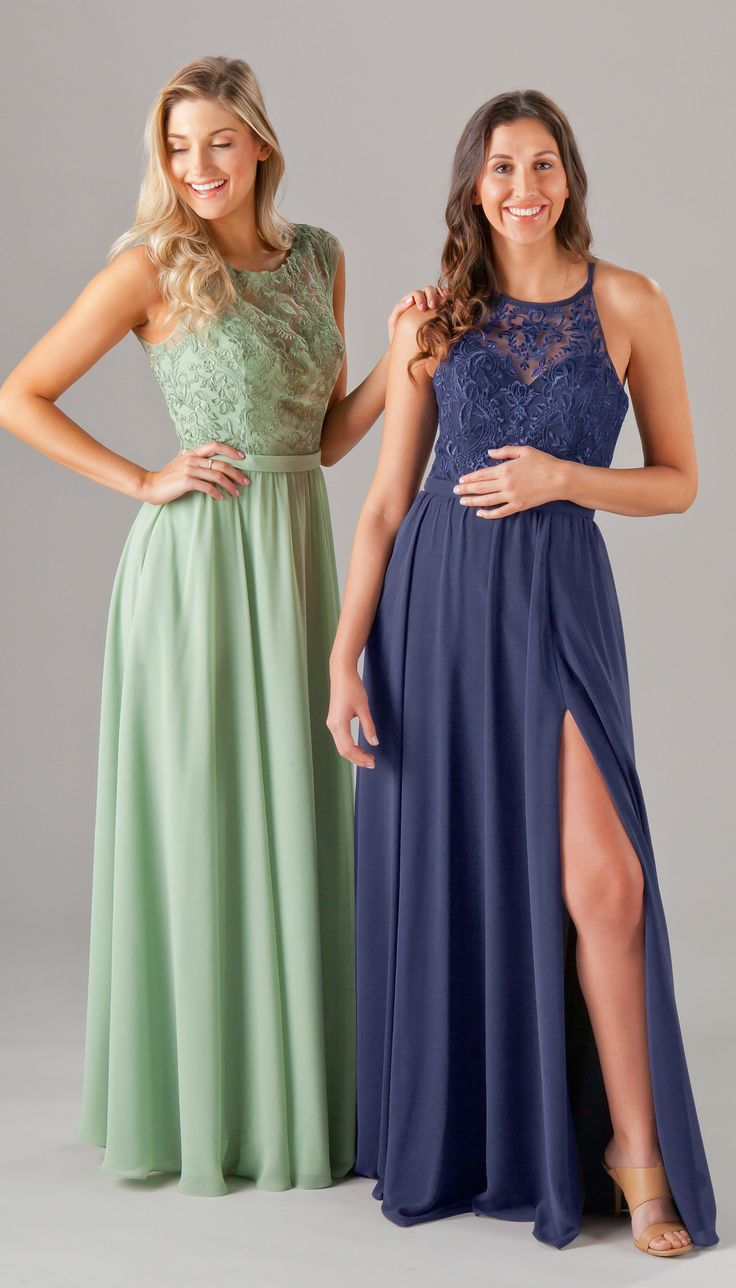 41 best embroidered lace bridesmaid dresses images on pinterest kennedy blue madeline bridesmaid dress in luxe chiffon this a line gown features an embroidered bodice a high illusion neckline and side pockets ombrellifo Choice Image
