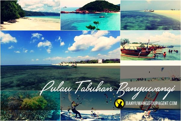 Pulau Tabuhan Banyuwangi. Terletak atau berlokasi 20 km dari pusat kota Banyuwangi di Desa Bangsring, Wongsorejo, Kabupaten Banyuwangi, Jawa Timur, Indonesia
