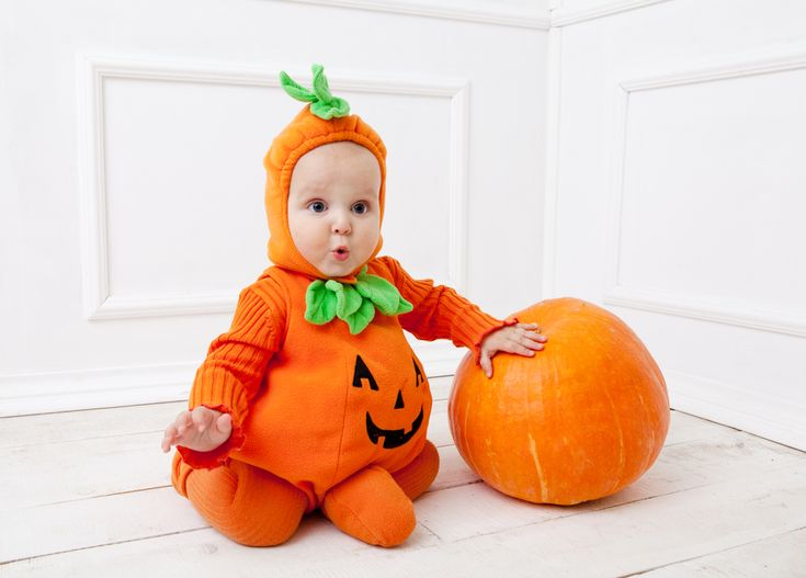 What should I buy my baby for halloween? A cute pumpkin costume like this one is what you should buy!