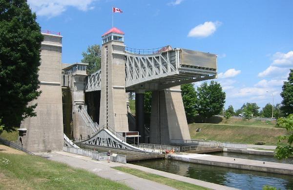 World's Highest Hydraulic Liftlocks, Peterborough, Ontario