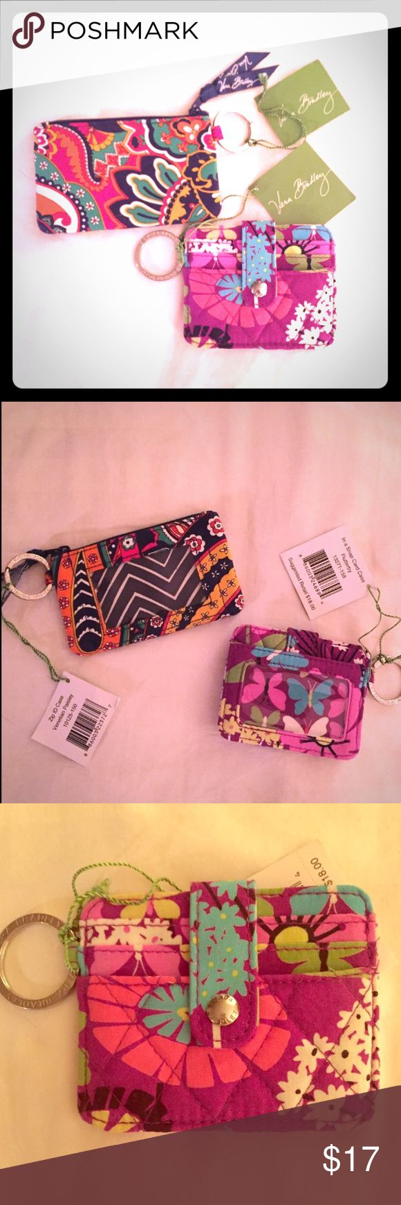 Vera Bradley ID Holder Bundle NWT ID Holders.  2 Different Styles and Designs!  Will sell individually. Vera Bradley Accessories Key & Card Holders