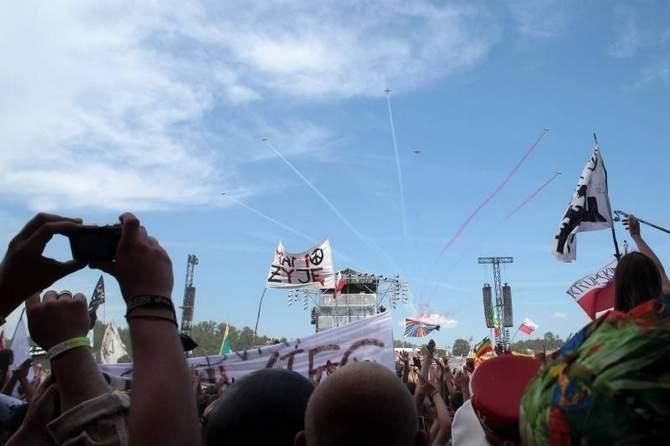 2012-08-03. Prezydenci Niemiec i Polski na Przystanku Woodstock 2012