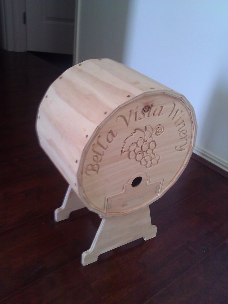 4 Liter wine Cask Holder - cut from 6mm and 9mm Plywood
