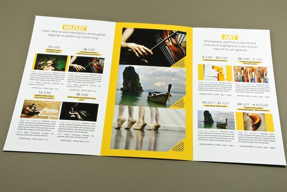 Object object brochure designs pinterest brochure for Music brochure templates