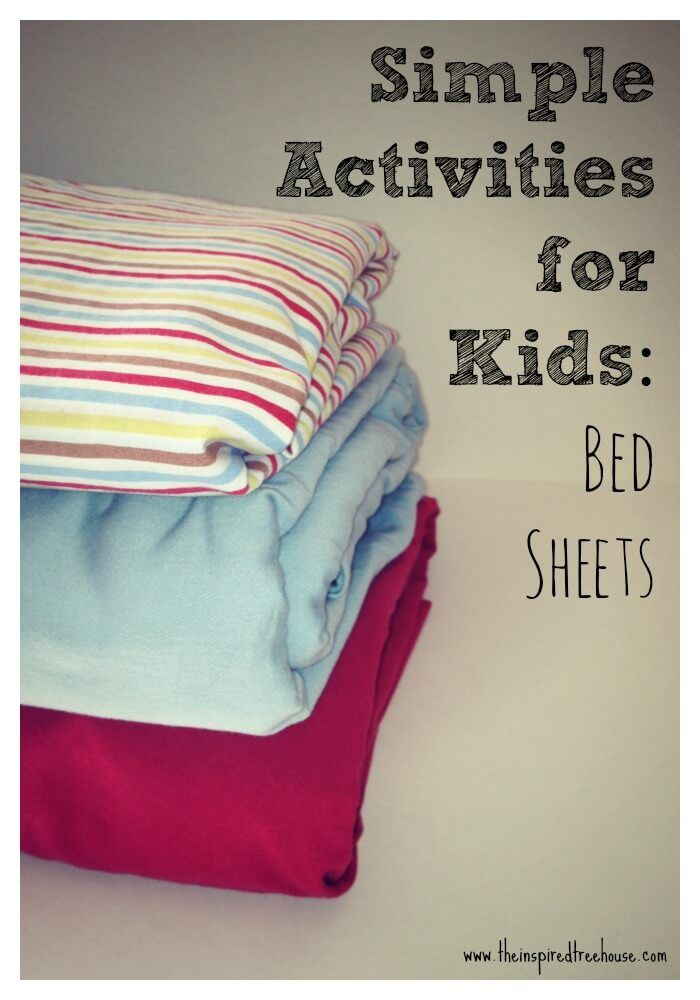 fun activities with bed sheets for kids