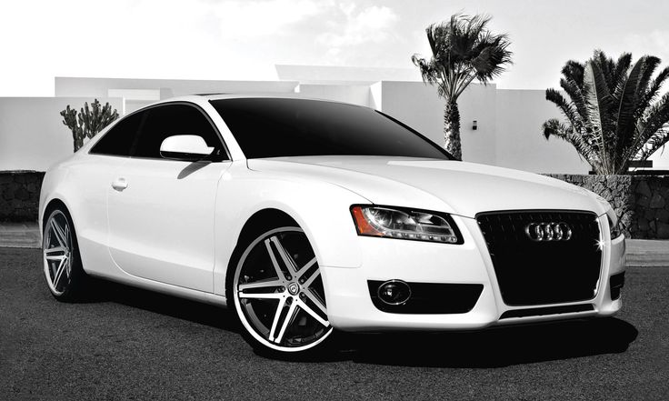 "My future car!!! White Audi A5 with 20"" machine and black R-Five."