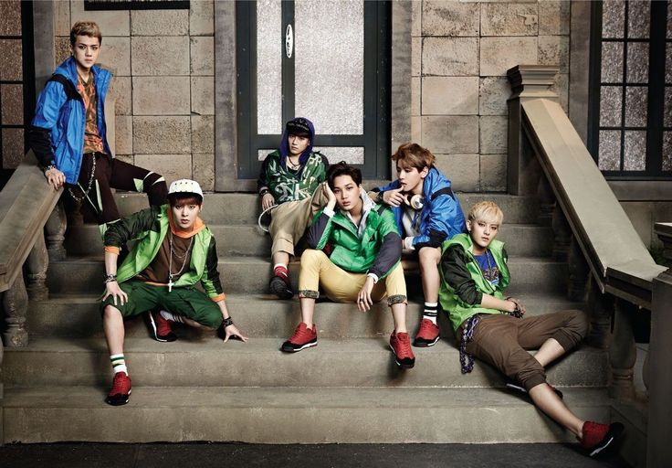 EXO Music Vintage Wall Stickers