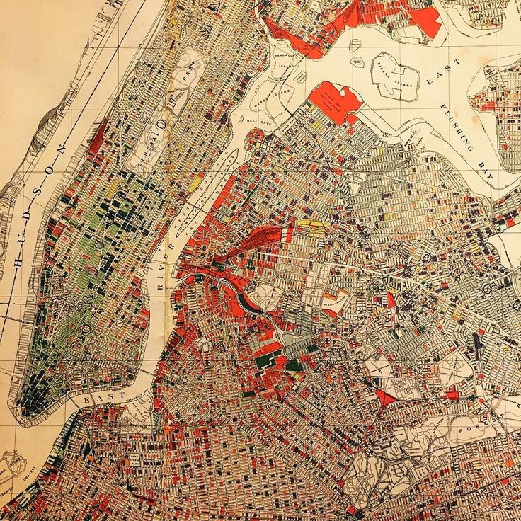 Antique New York City map Graphic presentation