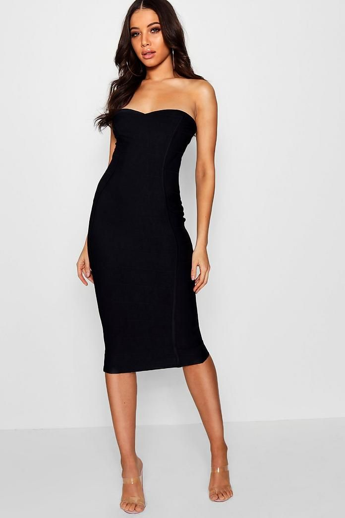483604114f6f Bandeau Bandage Midi Bodycon Dress in 2019 | Dresses | Dresses ...