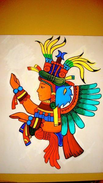 Xochiquetzal (Aztec goddess).Diosa Azteca de la tierra, de las flores, de las plantas, de los juegos, de la danza, pero especialmente del amor.