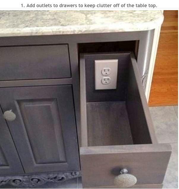 Hidden outlets-love this idea!