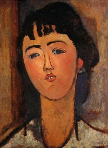 Amedeo Modigliani (1884 -1920) | Expressionism | Portrait of a Woman - 1915