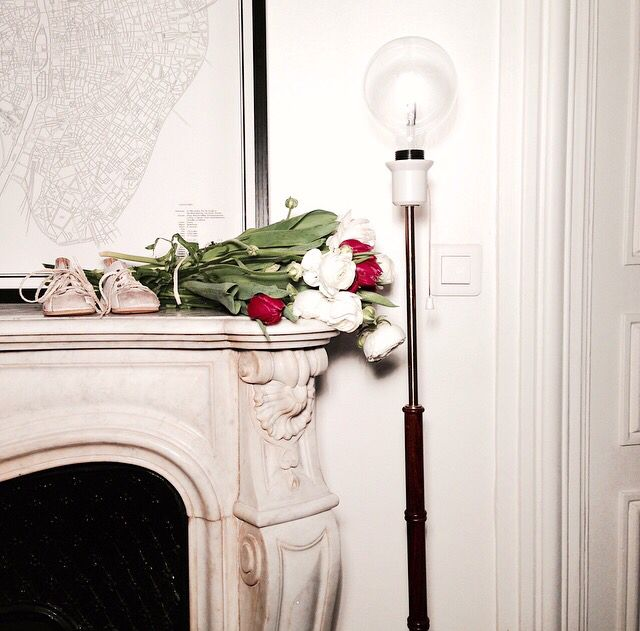 Fireplace | French Style | A corner of our fireplace in Paris |