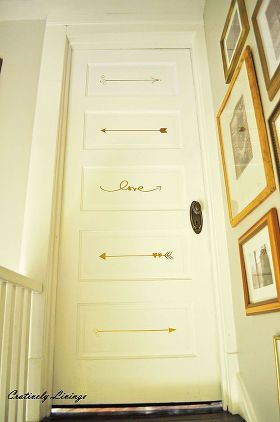 Painted Bedroom Door via Creatively Living