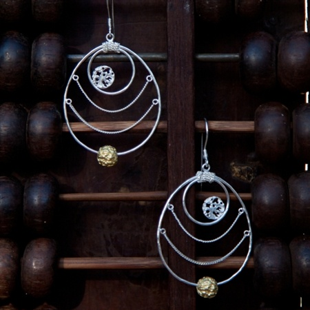 Charms of Life chain earrings  by Pantheia   $135