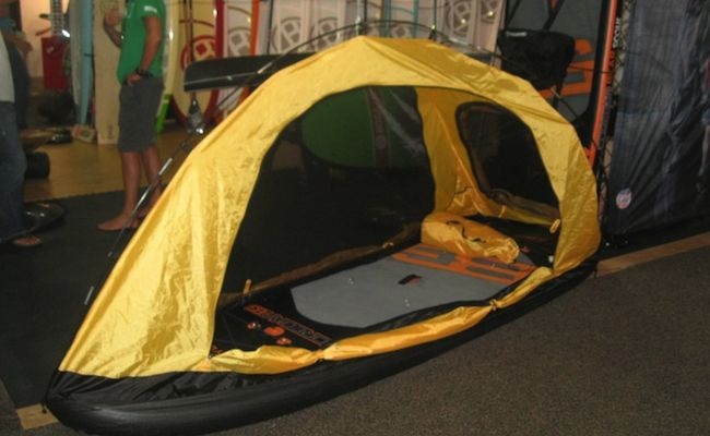 BEAR GRYLLS DEVELOPS STAND UP PADDLE TENT - #standuppaddle #paddleboarding #supconnect