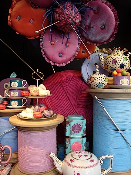 The Borrowers have arrived 1 #London #Shop window displays. This would be adorable for a girlie tea party or birthday party.