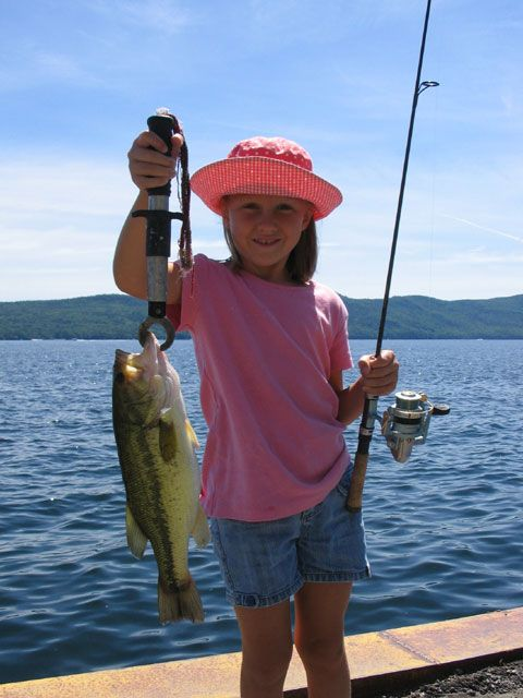Girls fishing lake george fishing charters by justy joe for Lake george fishing charters