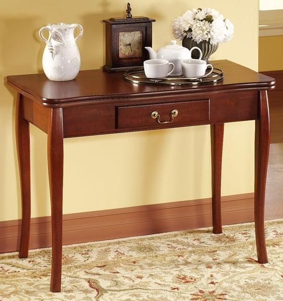 Cherry dining room table folded up folding dining room for Cherry dining room table