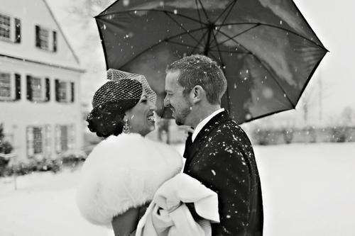Imagine a wedding with snow!