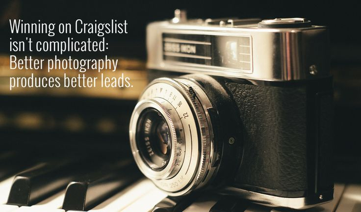 How better photography produces superior Craigslist results